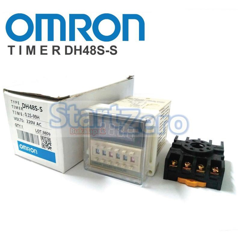 OMRON DH48S-S Digital Timer Precision Twin Counter 220V AC | Shopee Indonesia
