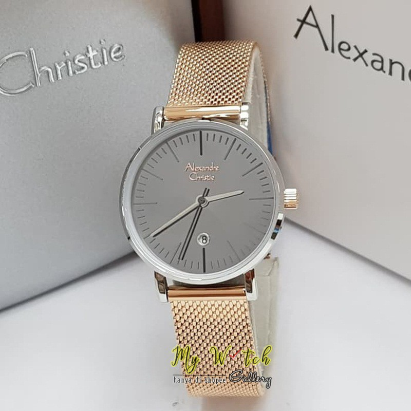 Jam Tangan Wanita Alexandre Christie 2498 Black Rosegold / Alexander Christie Wanita AC 2498 | Shopee