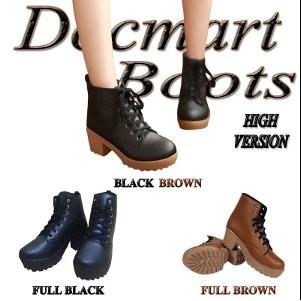 Ikhlasia Sepatu Boots Heels Wanita PB36 Heeled Boots