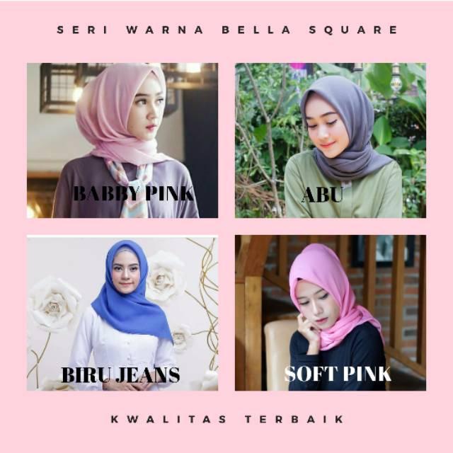 Ecer Hijab Ala Bella Bella Square Jilbab Laudya Cintya Bella