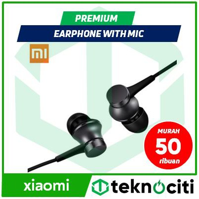 XIAOMI Mi Piston Huosai 3 Earphone with Mic - Young / Fresh Version Original