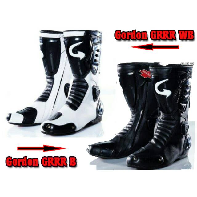 Boots   Sepatu Balap Road Race Motor Gordon GRRR Original (Not Speed Sidi  Scoyco Alpinestar Komine)  130c335c42