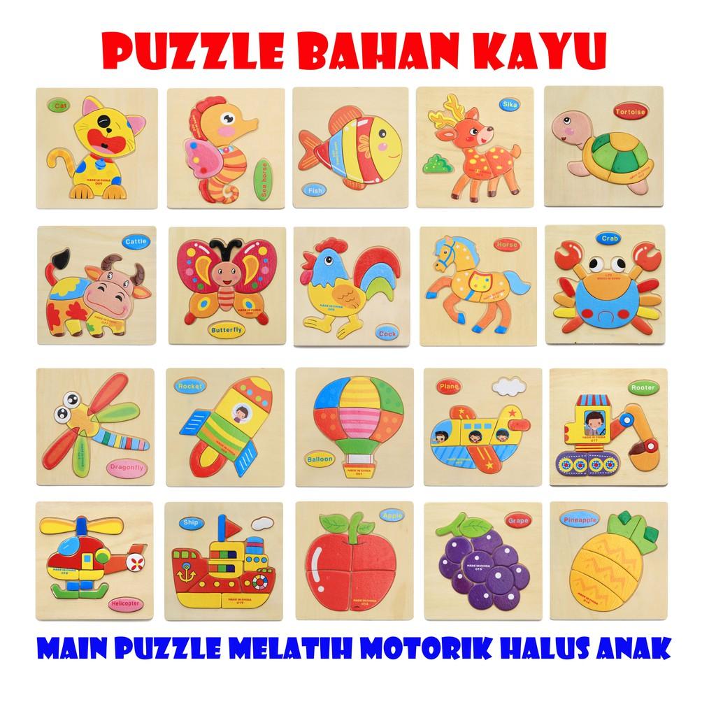 Dunia Anak Mainan Puzzle Mainan Edukasi Mainan Puzzle Hewan