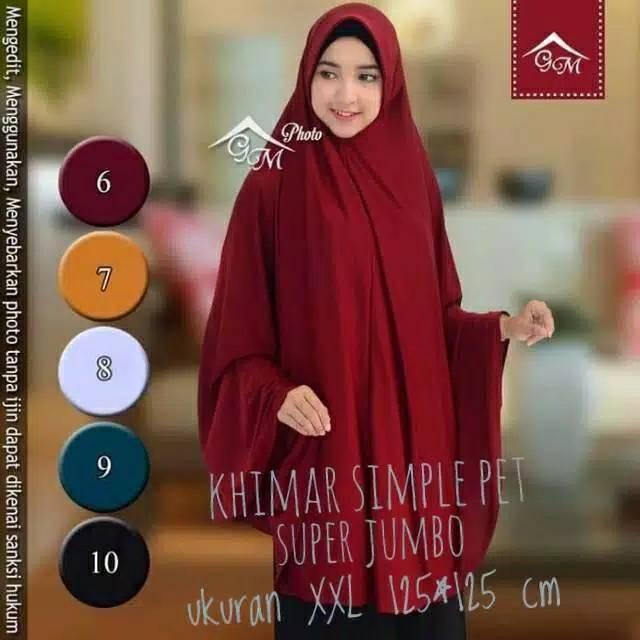 Khimar syar'i super jumbo XXXL 125x125 //khimar pet jumbo//jilbab instan jumbo   Shopee Indonesia
