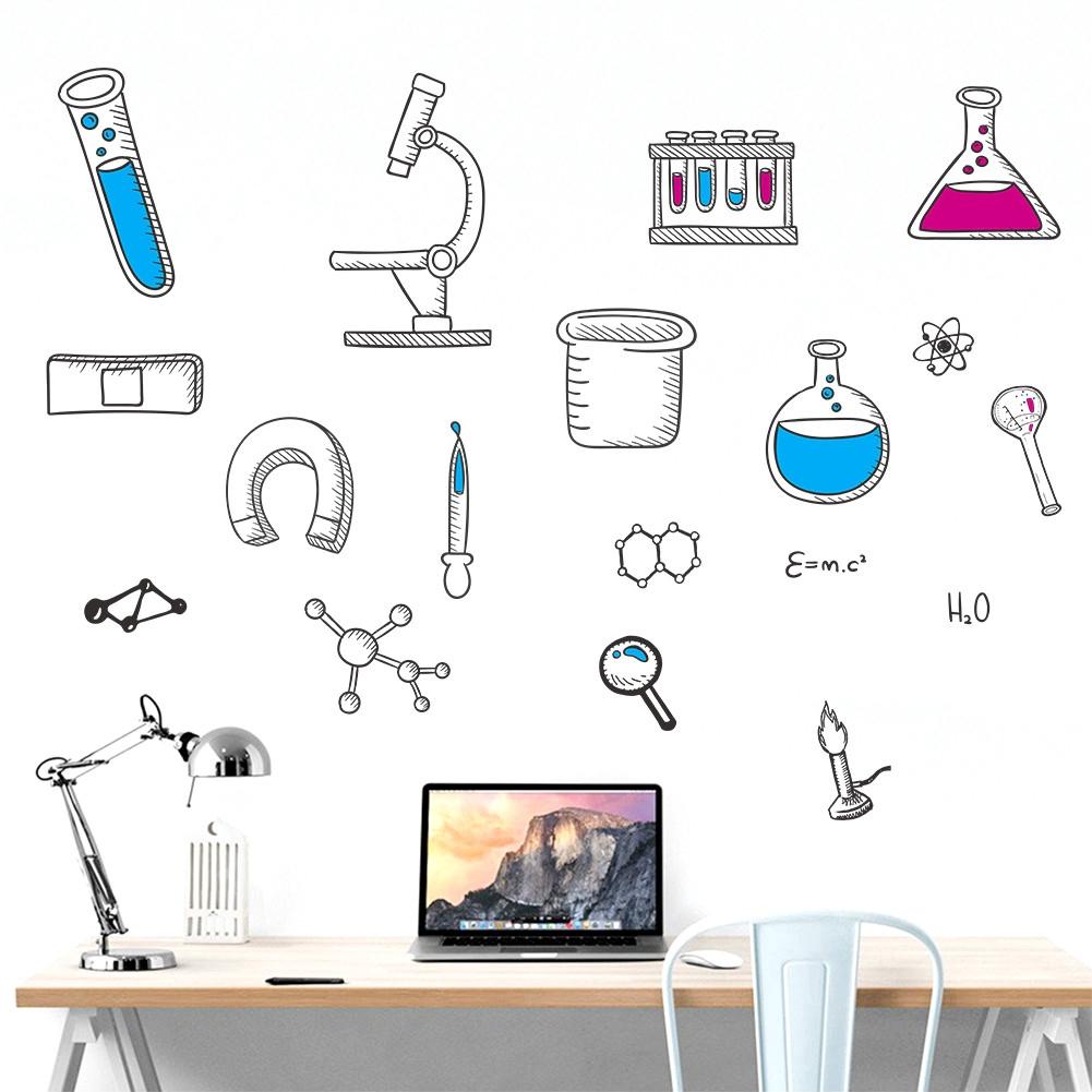 Laboratorium Sains Dinding Stiker Unsur Kimia Laboratorium Dekoratif Dinding Stiker Shopee Indonesia