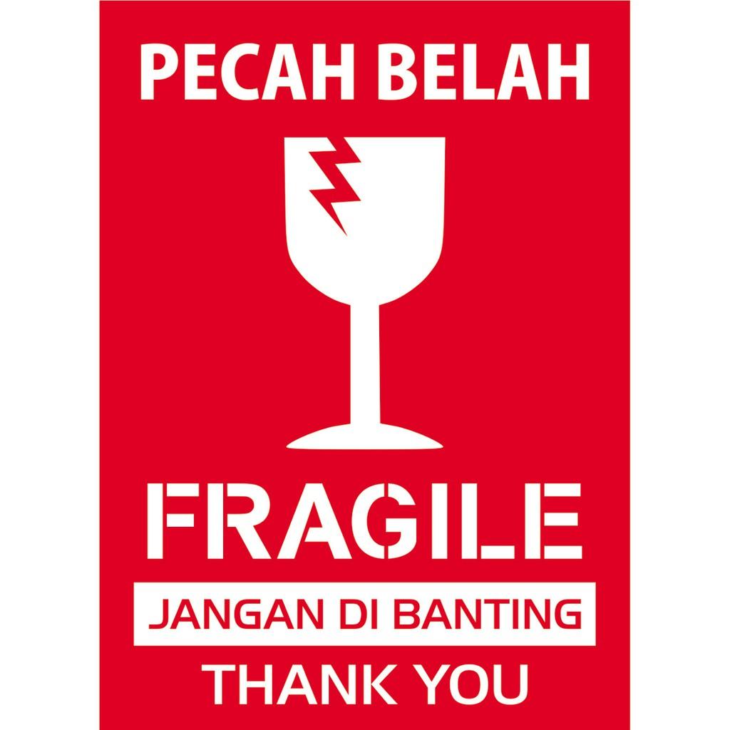 Stiker Pengiriman FRAGILE aWAS pECAH bELAH   Shopee Indonesia