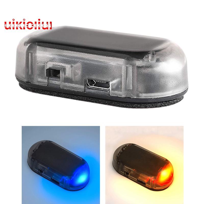 Car Solar Energy Simulation Alarm Security Warning Flash Blue LED Light