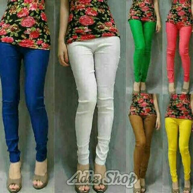 Celana Katun Stretch Legging Cotton Stretch Shopee Indonesia