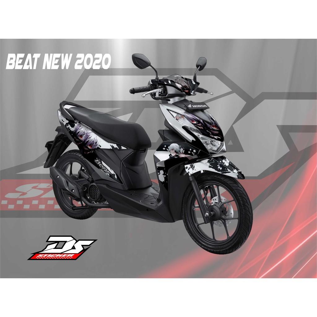 Decal Striping Beat New 2020 Anime Putih Shopee Indonesia