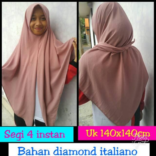 Segiempat Instan Jilbab Instan Diamond Italiano Shopee Indonesia