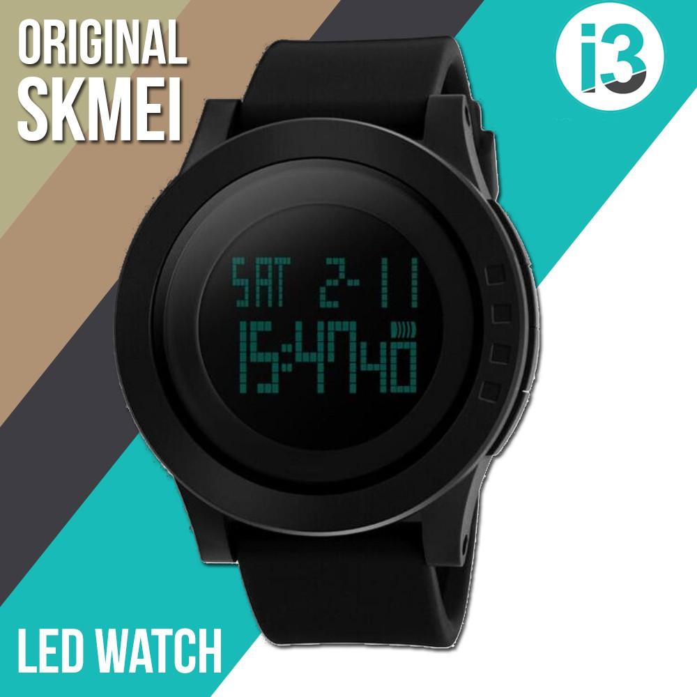 Jam Tangan Pria   SKMEI ORIGINAL 1219   Digital LED   Water Resistant +  Sandal Pria Motif  ae8c465ff3