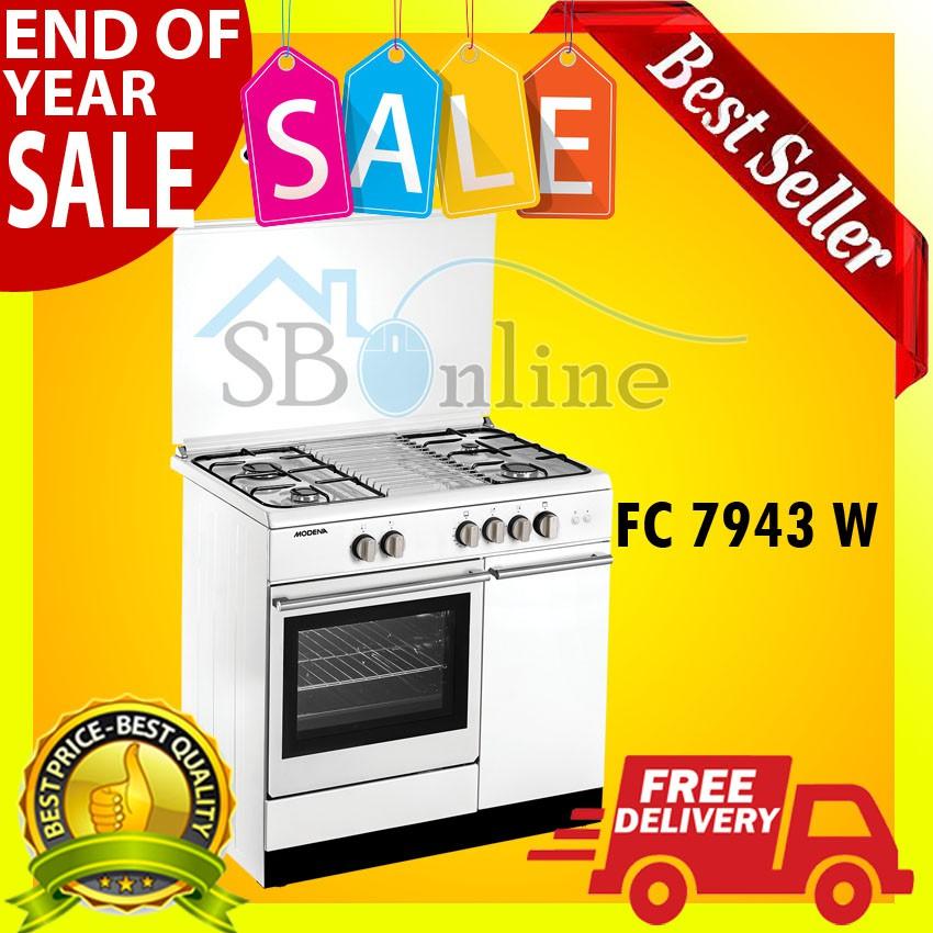 TERLARIS Modena FC 3952 Freestanding Cooker - Kompor Oven - Putih | Shopee Indonesia