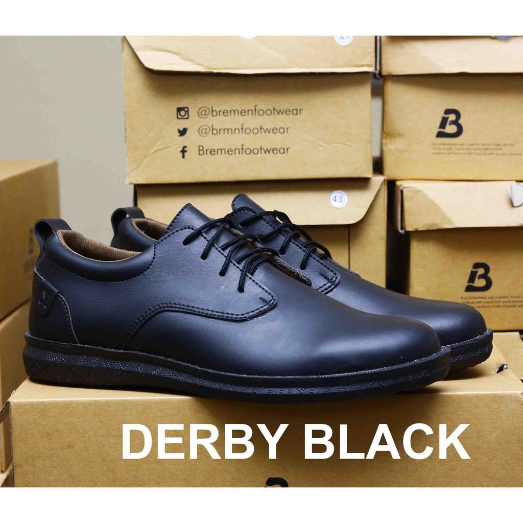 99e4686e1265c sepatu kulit sepatu pria black hitam formal kasual sporty empuk