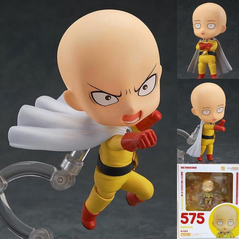 Anime Figure Saitama Nendoroid 575 One Punch Man Pvc Action Figure Anime One Punch Man Shopee Indonesia