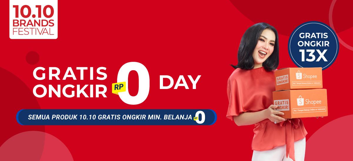 Shopee 10 10 Brands Festival Gratis Ongkir Rp0 Day