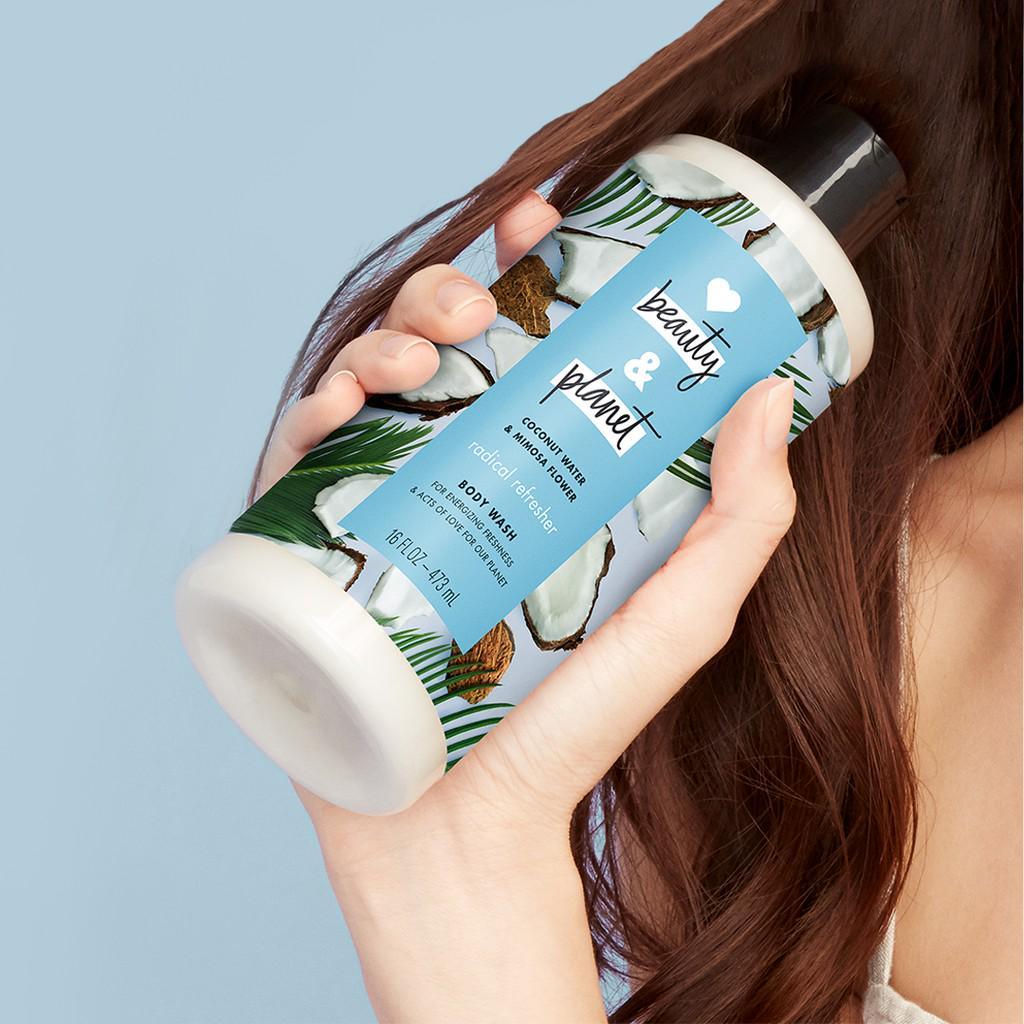 Love Beauty Planet Shampoo Coconut Water & Mimosa Flower 400 ml Twinpack-6