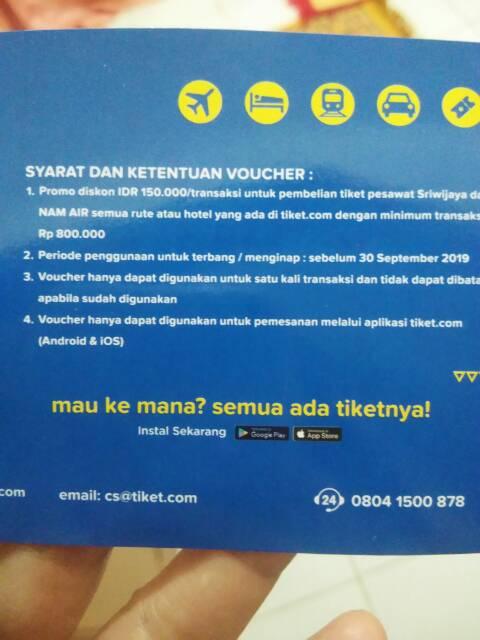 Voucher Pesawat Atau Hotel Tiket Dot Com 150 Ribu Shopee Indonesia