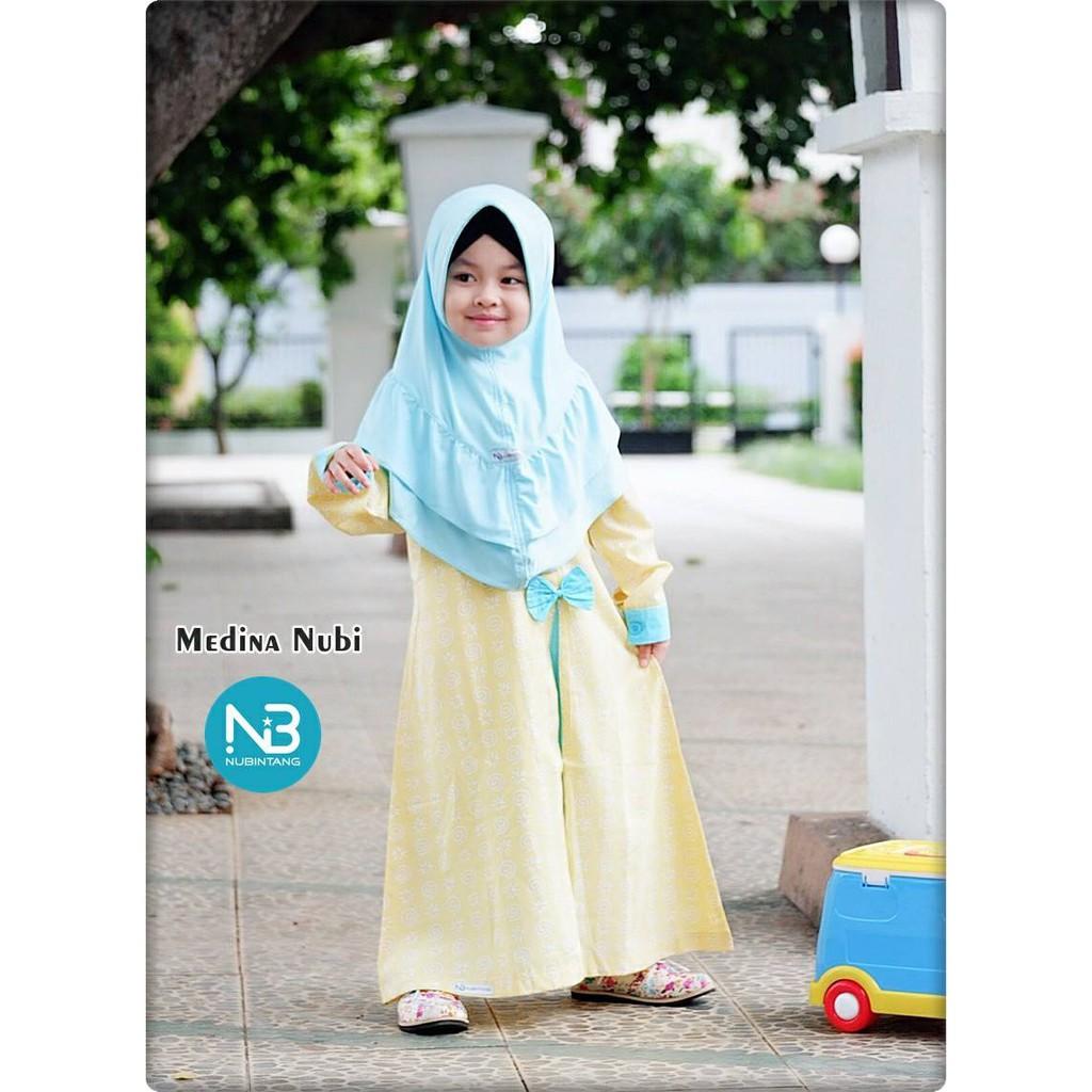 Gamis Anak Medina Yellow by NuBintang