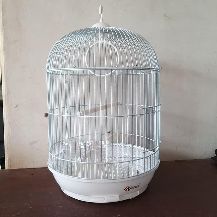 Order By Gojek Sangkar Kandang Burung Bulat Dia 33cm T 53cm Putih Shopee Indonesia