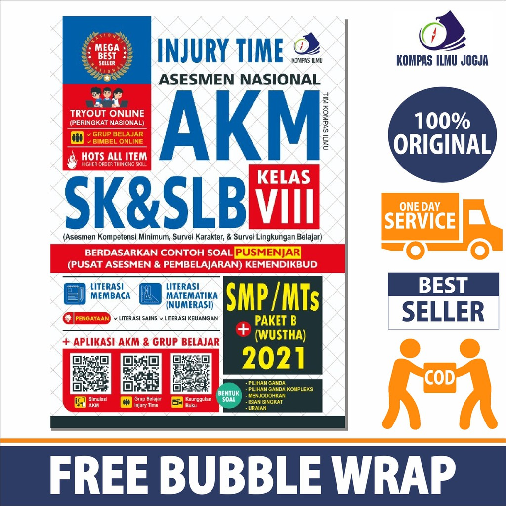 Terbaru Injury Time Asesmen Nasional Akm Sk Slb Smp Mts Paket B Wustha 2021 Shopee Indonesia