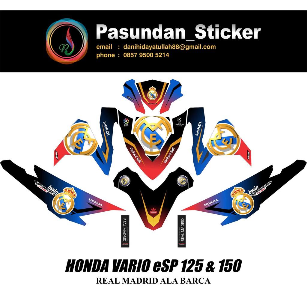 Decal sticker honda vario esp 125 150 real madrid special edition b shopee indonesia