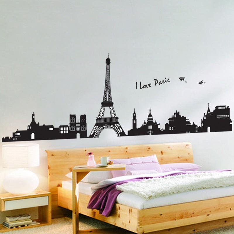 Wallpaper Dinding Kamar Gambar Menara Eiffel  diy stiker dinding dengan bahan pvc mudah dilepas dan gambar menara eiffel paris