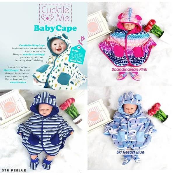 [ BISA COD / BAYAR DI TEMPAT ] Jaket Bayi Baby Cape / Hoodie / Mantel Cuddle Me | Shopee Indonesia
