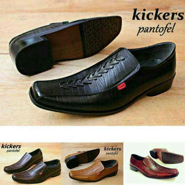 Sepatu pantofel pria kulit asli Rasheda K 02 Big Size  324118b137
