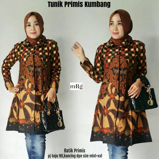 Tunik Batik Kantorantunik Batik Wanita Muslimahtunik Batik Wanita Murah Modern