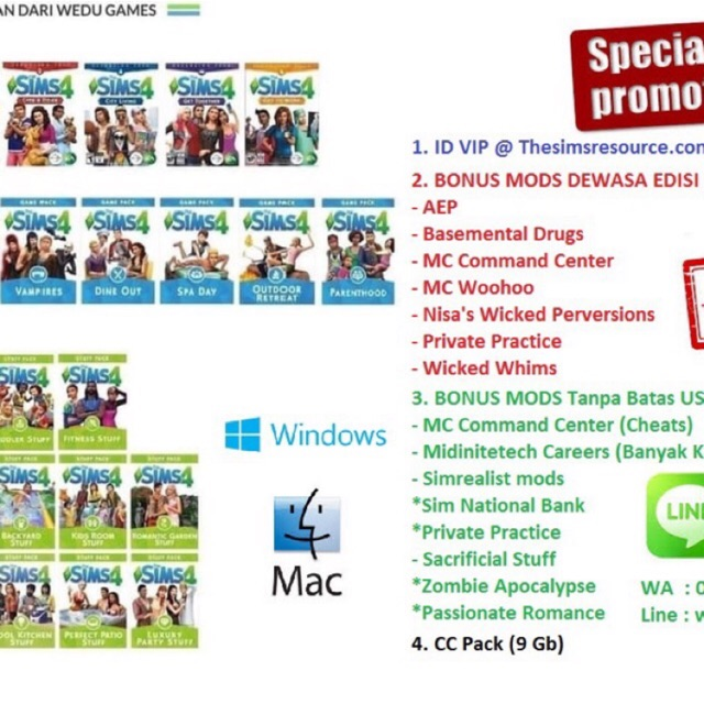{Windows} The Sims 4 + All DLC (Exp + Game Pack + Stuff Pack) Original  Share ID
