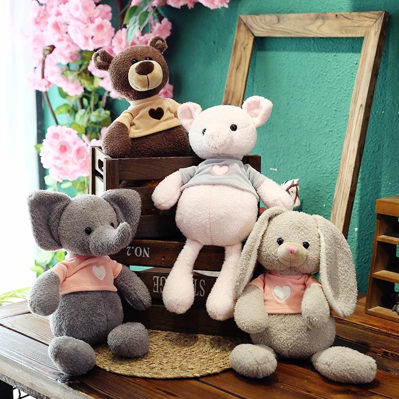 boneka plush bentuk beruang/kelinci/babi gaya korea untuk dekorasi ...