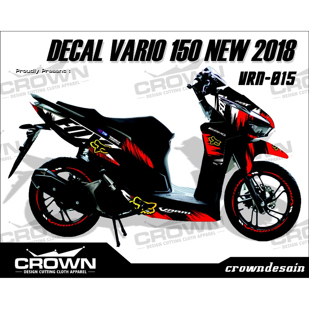 Decal new vario 150 facelite 2018 sticker striping stiker vario 2018 shopee indonesia