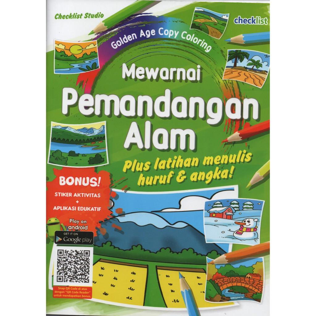 MEWARNAI PEMANDANGAN ALAM GOLDEN AGE COPY COLORING