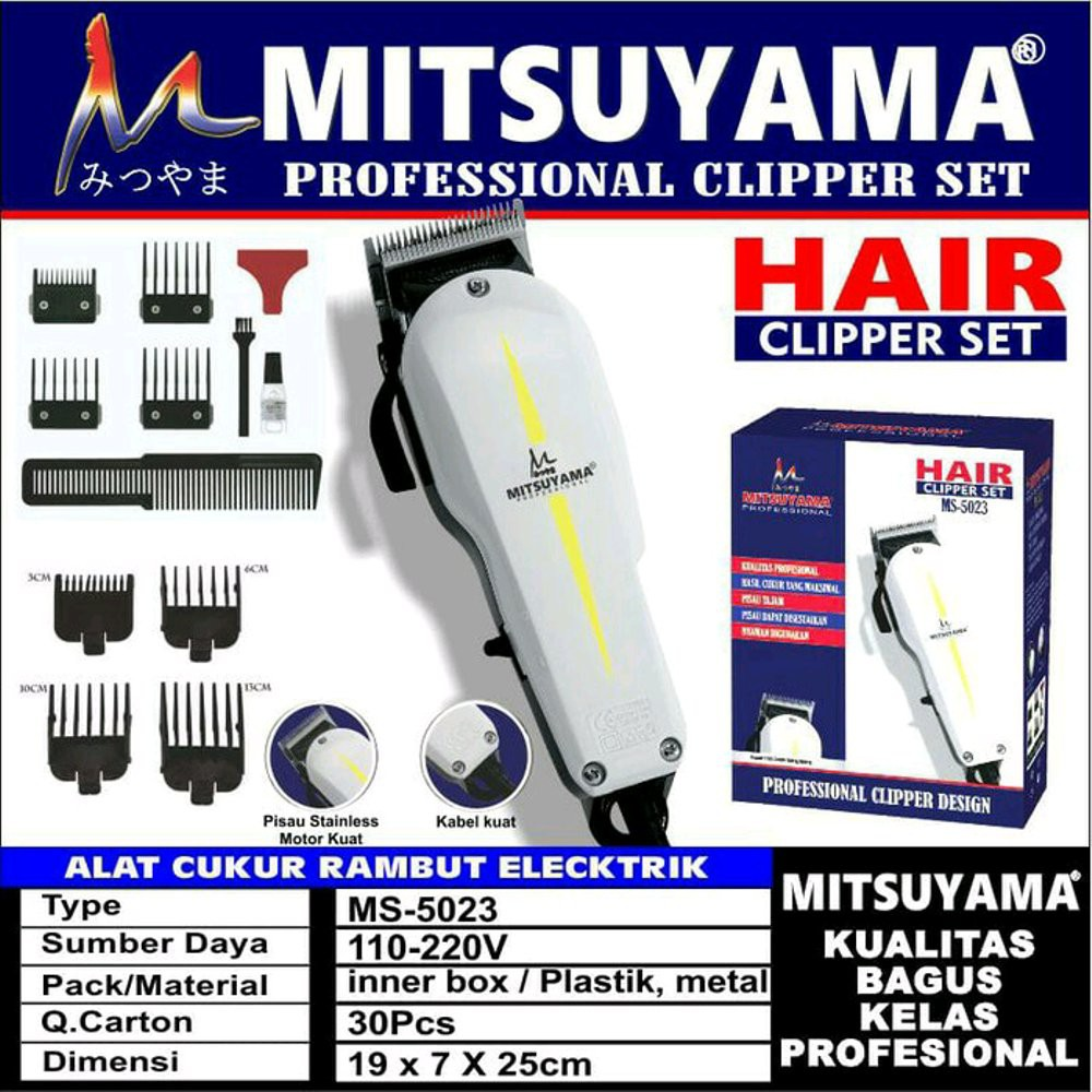 Alat Mesin Cukur Rambut MITSUYAMA WS 5023 Mirip WAHL SUPER TAPER ... fabb456749