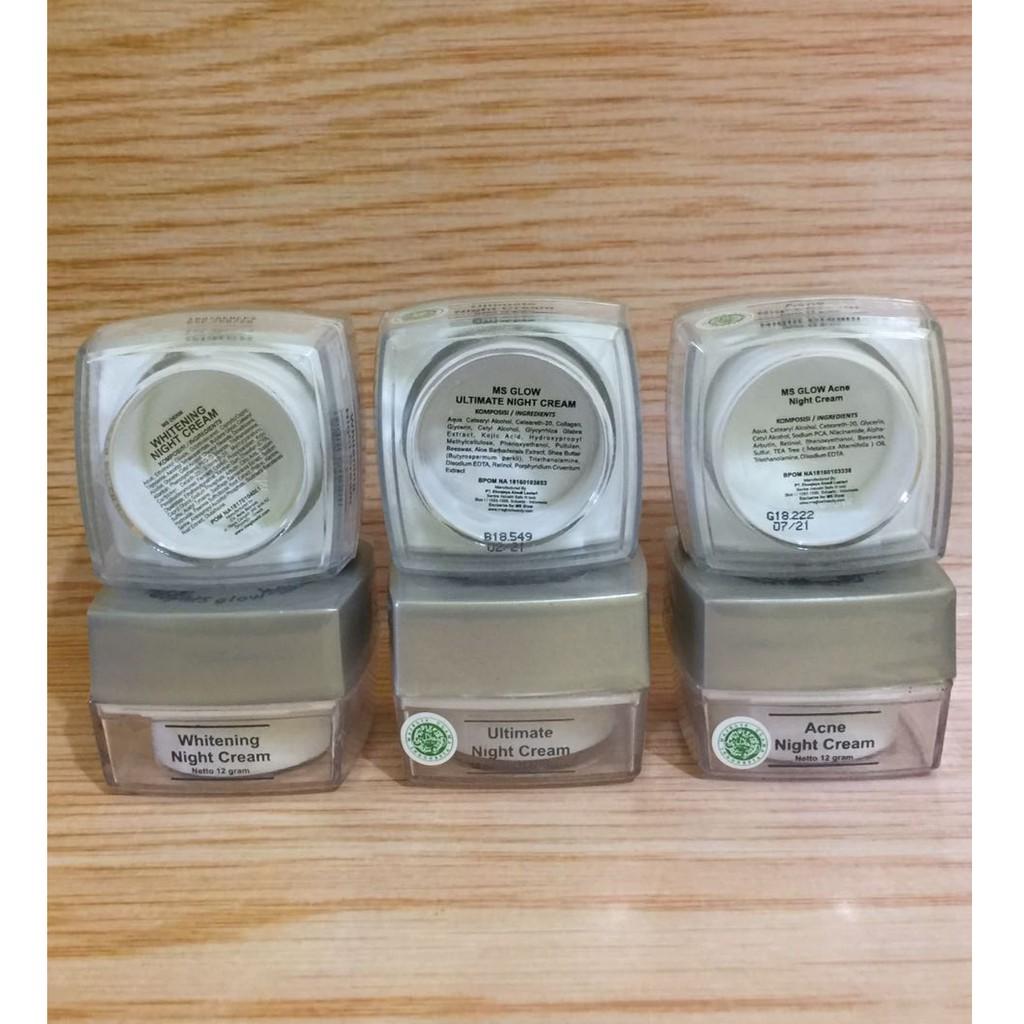 Ertos Night Cream Bpom Original Krim Malam Perawatan Wajah Shopee Indonesia