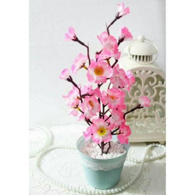 Bunga artificial plastik sakura rangkai  2e6fbf0c32