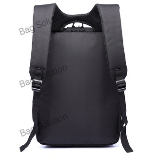 Real Polo Tas Ransel Laptop Kasual 6360 Backpack Up to 15 inch Bonus Bag Cover -