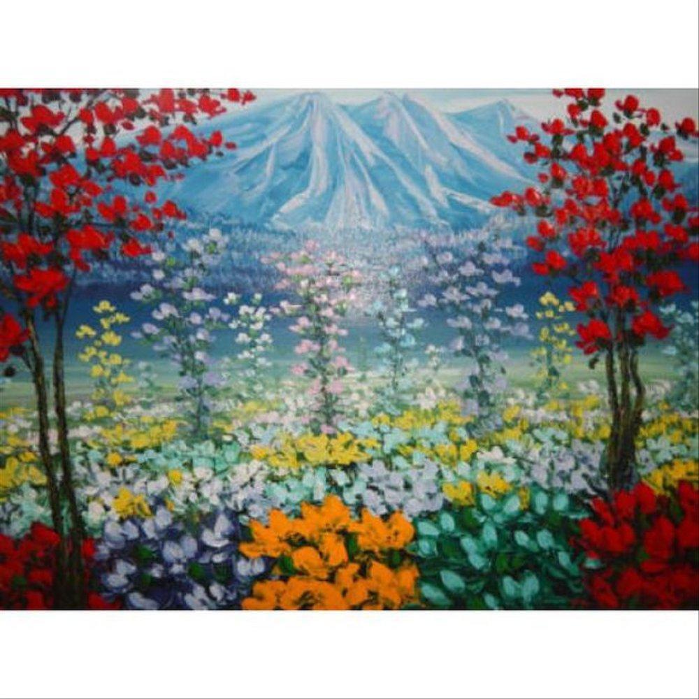 Lukisan Objek Motif Pemandangan Alam Bunga Tools N Parts Shopee Indonesia