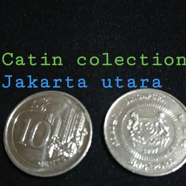 Gambar Uang Koin Singapura Sh 189 Uang Koin 10 Sen Singapura Shopee Indonesia