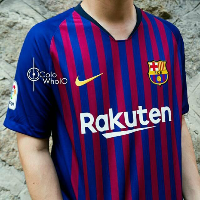 5827c6967 Jersey Bola Barcelona Barca Nike Anniversary 20th Official Grade ORI ...