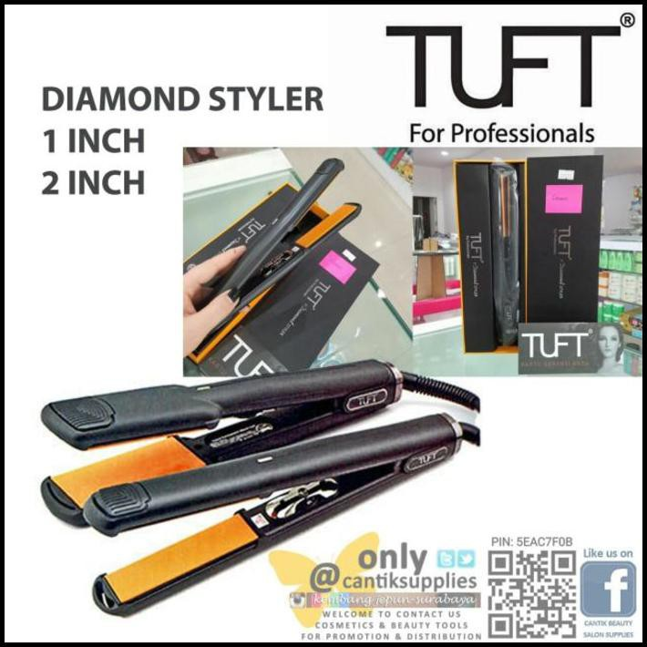 Tuft Catok 6601 Diamond Styler 2 inch with Nano Ceramic - Catokan | Shopee Indonesia