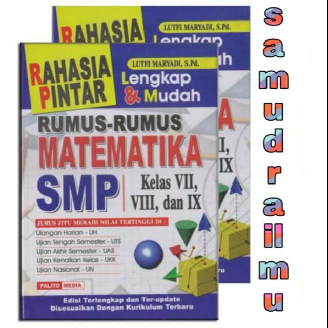 Buku Rahasia Pintar Rumus Matematika Smp Shopee Indonesia