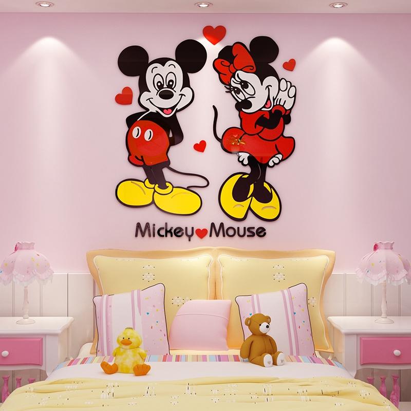 Stiker Dinding Desain Kartun Mickey Mouse 3d Untuk Dekorasi Kamar Tidur Anak Shopee Indonesia