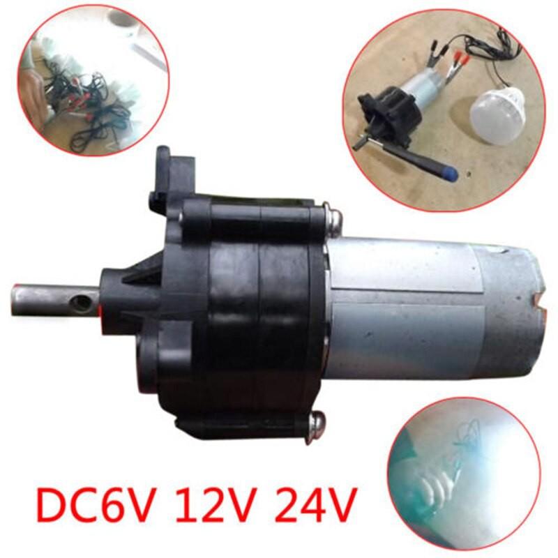 Mini Wind Hydraulic Generator Hand Crank Manual Dynamotor Motor W//Handle 1500mA