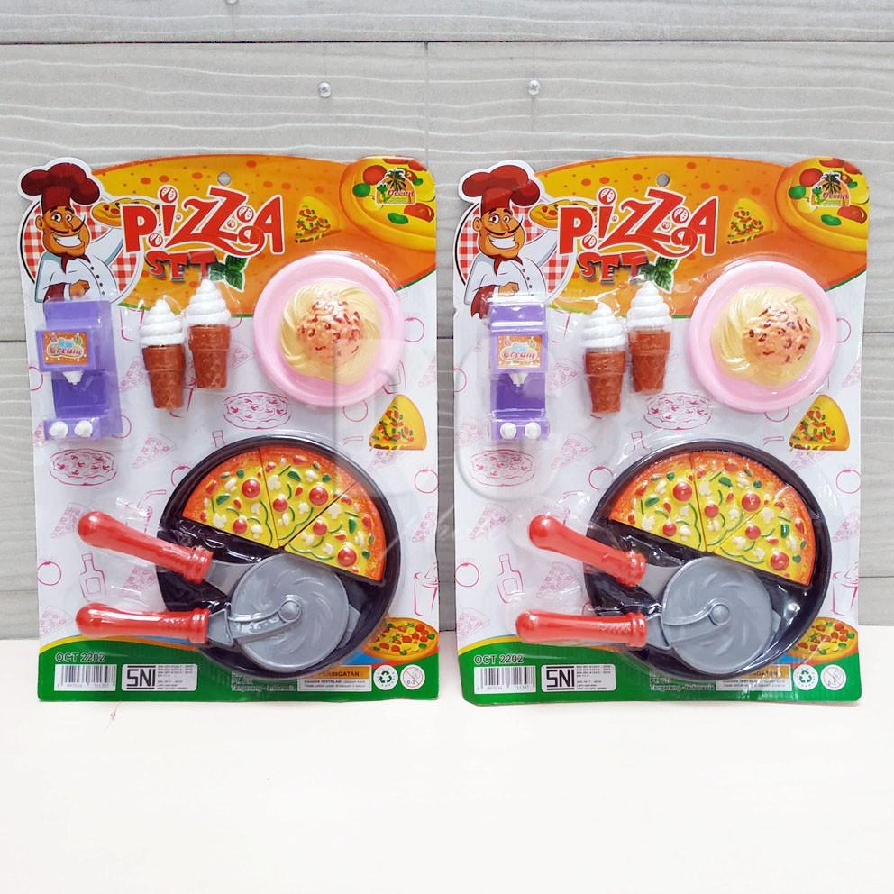 Mainan Anak Pizza Set Mini Pizza Potong Spaghetti Ice Cream Masak Masakan Shopee Indonesia