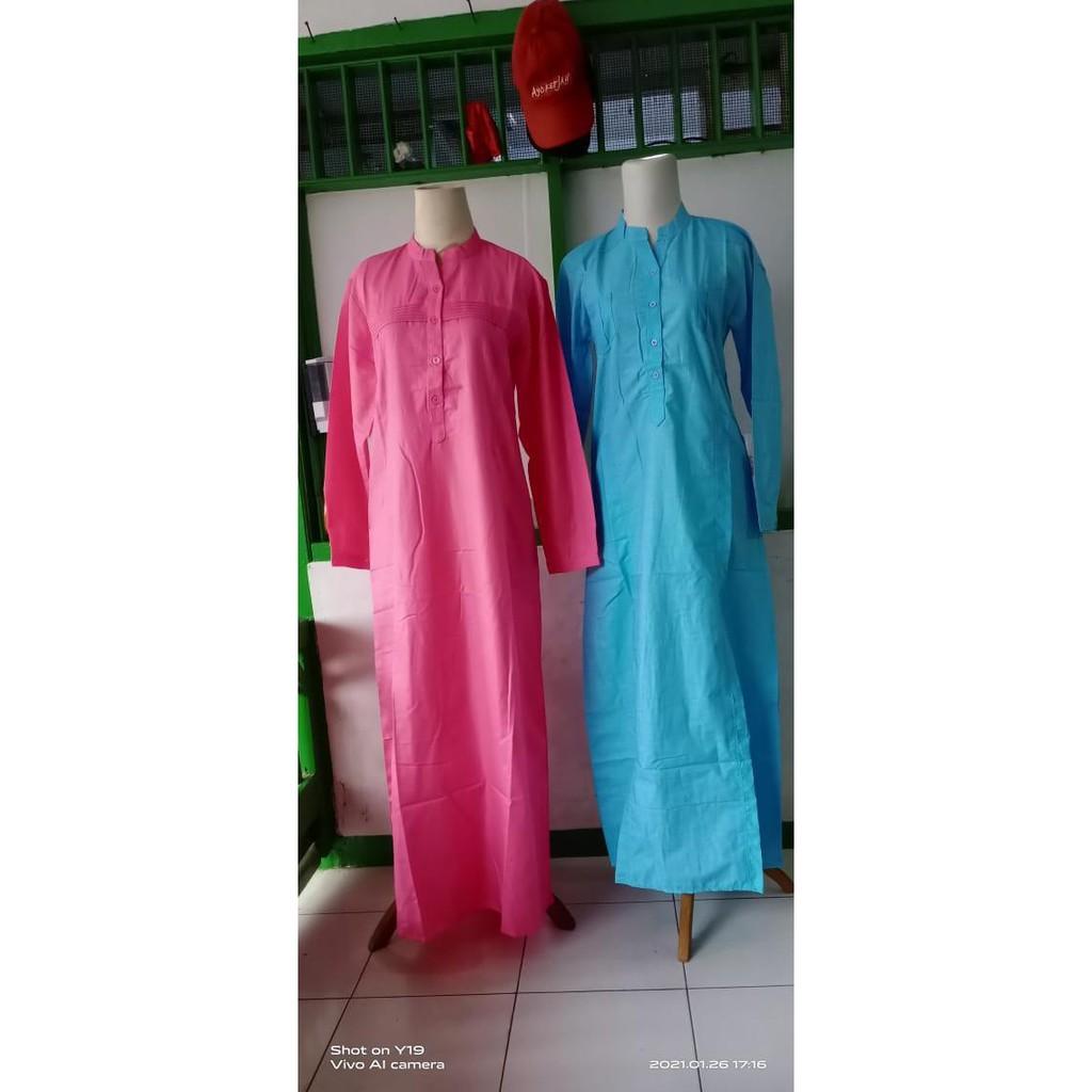 Gamis Standar Gontor Putri - Pink dan Biru - Merah Muda, M