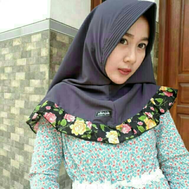 Hijab Jilbab Khimar Pet Rempel Bunga Jilbab Instan Shopee Indonesia