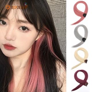 Klip Ekstensi Rambut Sintetis Model Lurus Panjang Aneka Warna Untuk Wanita thumbnail