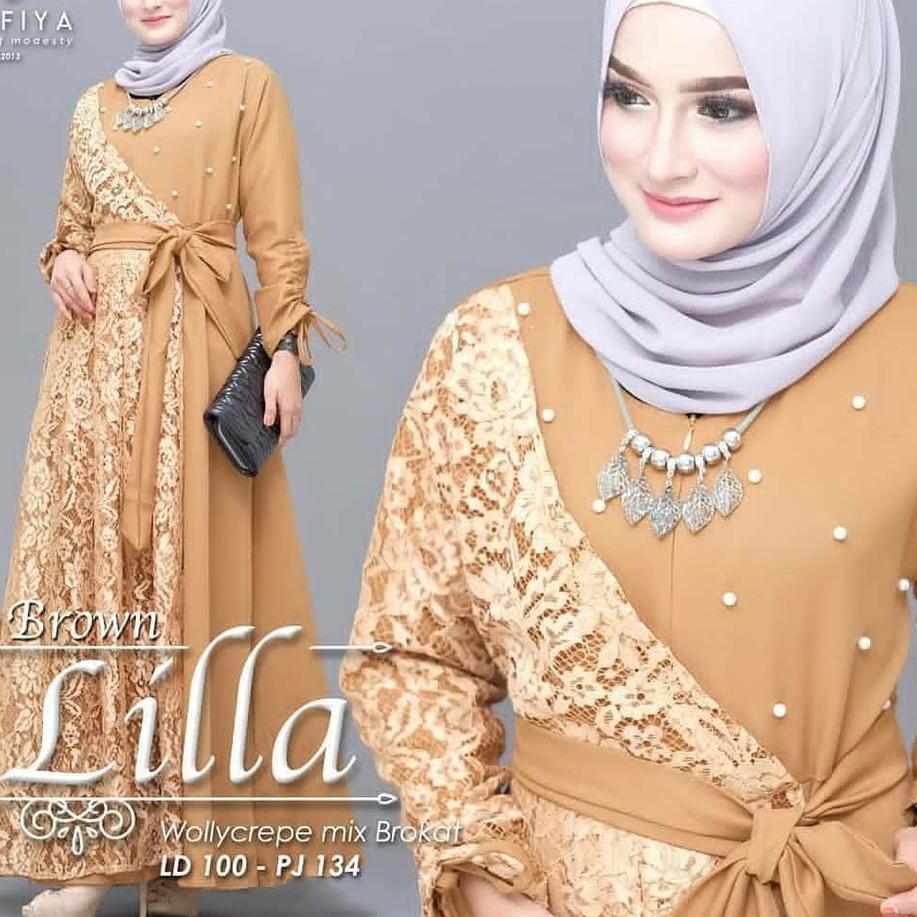 ✫10★ Dress Wanita Model Terbaru / Baju Muslim / Fashion Wanita / Lila  Maxy ✿