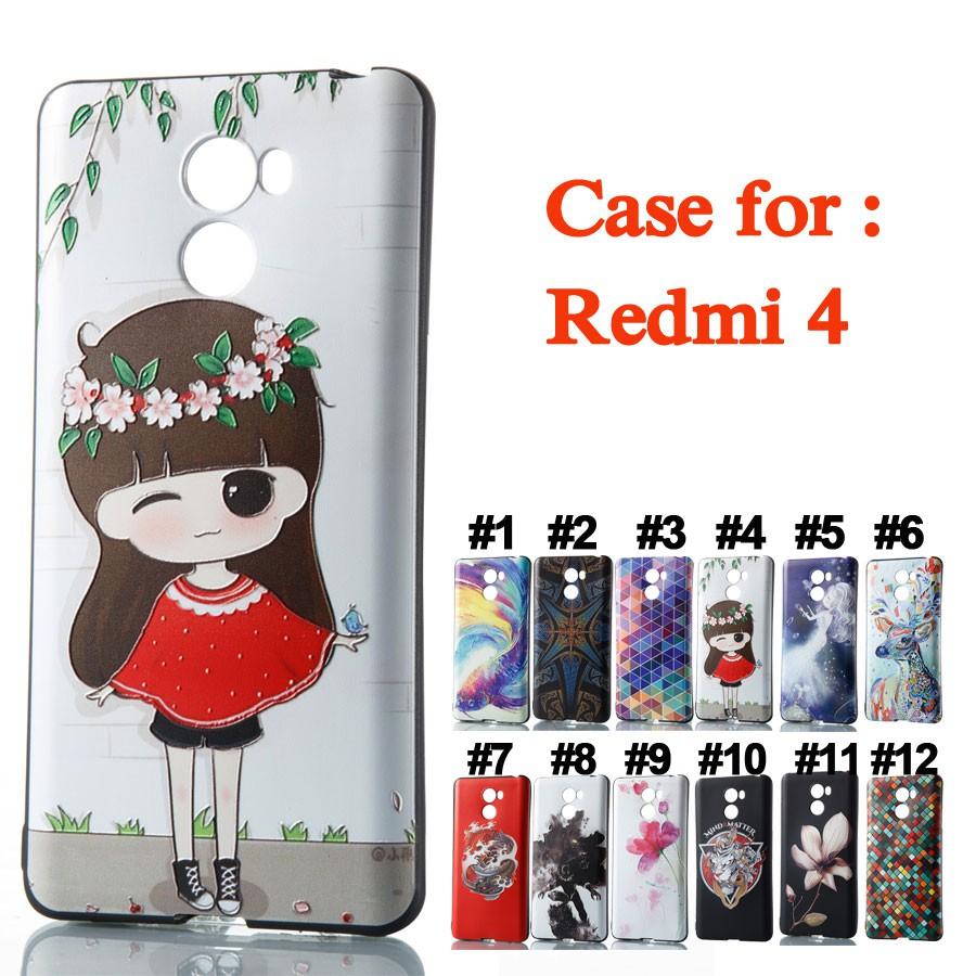 buy online c391d d2766 HT| Casing Untuk Xiaomi Redmi 4 Soft Silikon Couple Girl Mermaid Tiger  Batman Floral Case TPU Cover